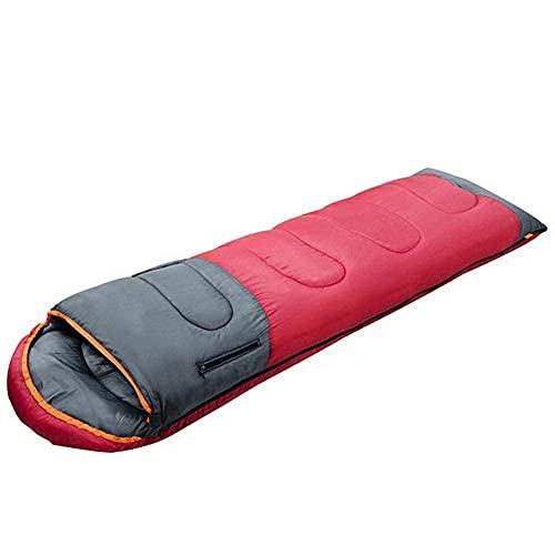 GTBF Bolso para Dormir Camping, Bolsa de Dormir portátil Flexible retráctil Grueso Cantidad cálida Viajes de Vacaciones Viajes de Vacaciones. Tour, luz (Color: Rojo)