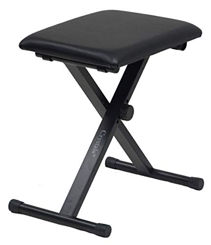 Double Braced X Frame Music Piano Stool Keyboard Bench Chair with...
