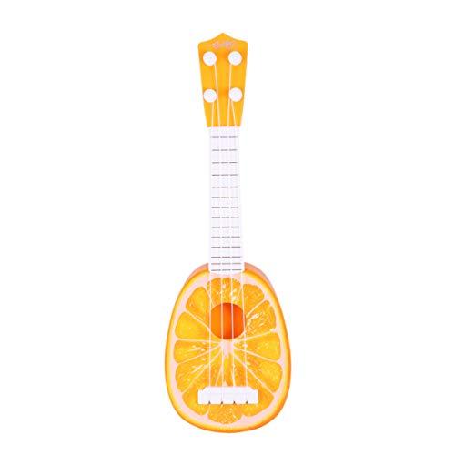MILISTEN 1 Pieza de Ukelele de Forma Naranja Mini Ukelele de Fruta Niños Pequeños Guitarra de Fruta Juguete Educativo de Aprendizaje Temprano para Niños Y Niñas (Amarillo)