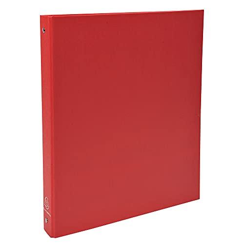 Exacompta 51375E Cartelle ad Anelli, 32x26 cm, Rosso