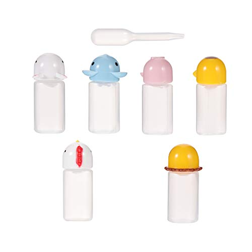 YARNOW 6 Unidades de Botellas de Plástico para Exprimir Condimentos Mini Botellas de Condimento Envases Dispensadores de Condimentos con 1 Unidad de Gotero para El Hogar Cocina Barbacoa