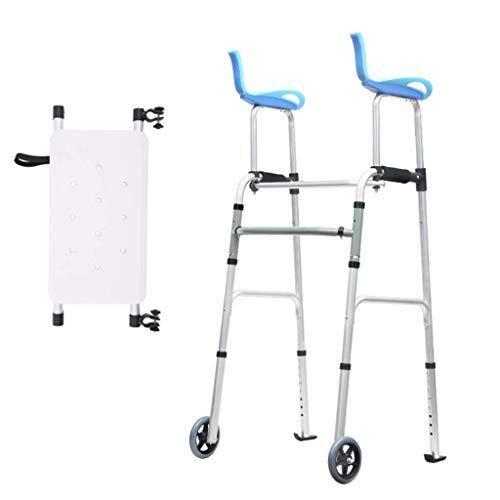 NMDCDH Tragbare Ultra schmale Standard-Gehhilfen von Walker/Leichtgewichtiger Gehrahmen auf Rädern für den Heimgebrauch/Ergonomischer Griff/Höhenverstellbar/Mit Wannenplatte