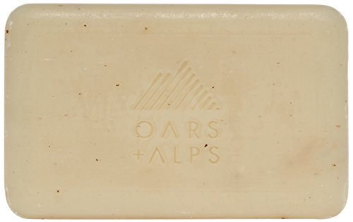 Oars + Alps Natural Moisturizing Bar Soap | Shea Butter, Exfoliating Body Scrub, Non- toxic