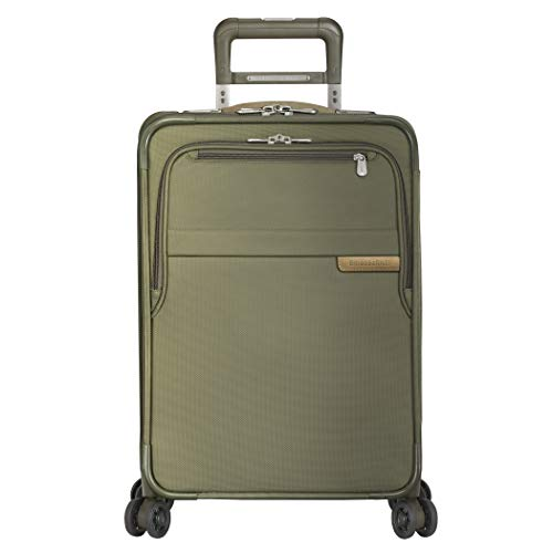 Briggs & Riley Baseline-Softside CX Expandable Carry-On Spinner Luggage, Olive, 22-Inch
