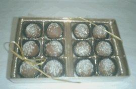 Rum Filled Milk Chocolate Flavoured Truffles Gift Box (12 Pcs)