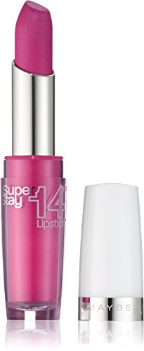 Maybelline New York Make-Up Lippenstift Superstay 14h Lipstick Infinitely Fuchsia / Glitzerndes Pink...