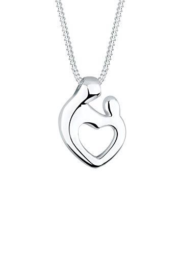 Elli Halskette Elli Damen Halskette Mutter & Kind mit Herz Symbol Verbundenheit in 925 Sterling Silb...
