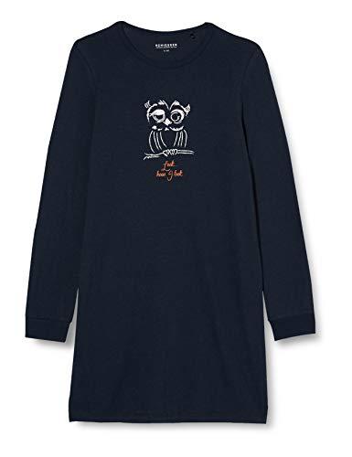 Schiesser Mädchen Sleepshirt 1/1 Nachthemd, Nachtblau, 176