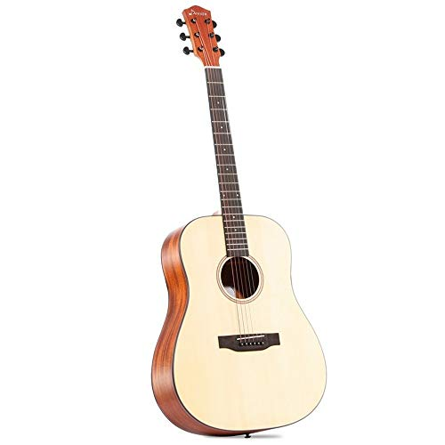 Boll-ATur Konzertgitarre Akustikgitarre 41 Zoll Kindergitarre for Anfänger 6 Kupfer Saiten Gitarren-Starter-Kits mit Tasche Gitarren-Clip Tuner Strap Capo Picks Wipe