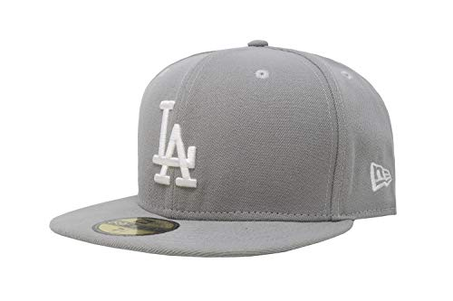 New Era Men's Fitted hat Los Angeles Dodgers Gray/White Cap 11591145 (7 5/8-60.6cm)