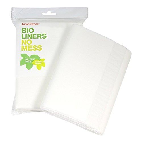 Imse Vimse Bio Feuilles de Protection Couche Bébé - 100 feuilles