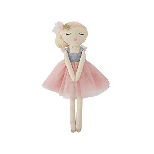 """Mud Pie Ballerina Doll, Blonde, 18"""" x 5 1/2"""""""