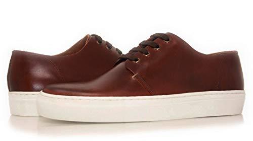 PORTMANN Canvas Scarpe Vera Pelle Scarpe Suede/ Sneaker ., Marrone (Cera castagna), 45 EU