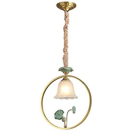 Perfect thuis gewoon Amerikaanse creatieve Lotus kleine lamp van glas - restaurant gang licht vloerlamp LED