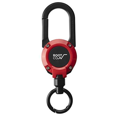 【ROOT CO.】マグネット内蔵カラビナリール GRAVITY MAGREEL 360 (レッド/グロス)