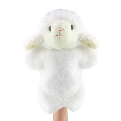 Andux Marioneta de Felpa Linda Juguete de Peluche Suave (SO-26 Oveja-Blanco)