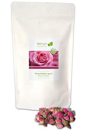 Rosenblüten getrocknet | ganze Blüten 50g | Herrlich duftend | Rosenknospen Rosenblätter für Rosenwassser Rosentee Rosenmarmelade Rosenseife ...