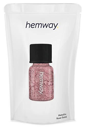Hemway Pigment Poeder Tube Premium Gel Nagel Lip Gloss Dust Art Make-up Oogschaduw Gezicht Lichaam Oog Cosmetische Veilig UV - 3.9g / 0.15oz metallic ros�goud
