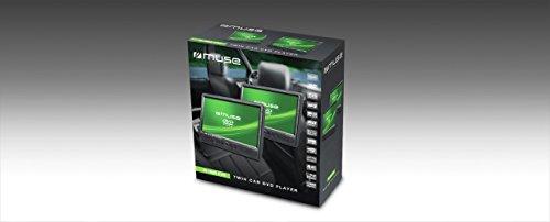 Muse M-1095 CVB 2x tragbarer DVD-Player Auto, 10,1 Zoll, USB, SD / MMC-Kartenleser, AV-Anschluss) mit stabiler Halterung für die Kopfstütze (Spange)
