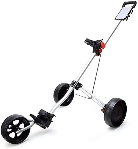 Carro de golf de 3 ruedas Carro de empuje de golf Triciclo de golf Coche Carro de pelota plegable Carro Suministros para...