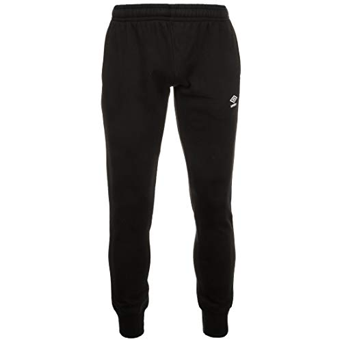 UMBRO Herren FW Tapered Fleece Jogger Hose, Schwarz, m