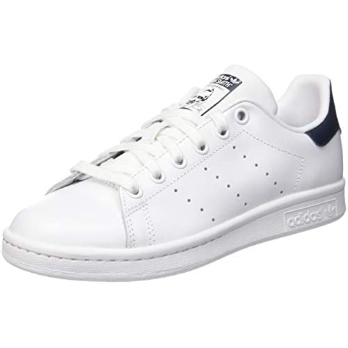 adidas Originals, Stan Smith, Sneakers, Unisex - Adulto, Bianco (Core White/Dark Blue), 38 EU