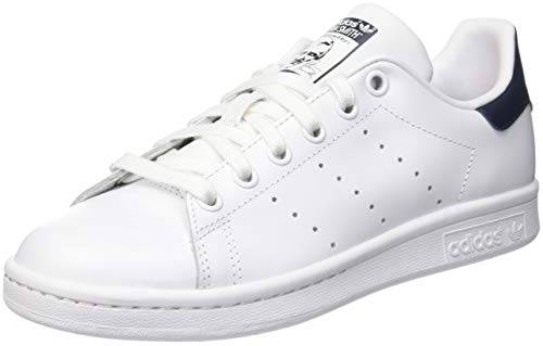 adidas Originals Stan Smith, Unisex-Erwachsene Niedrig, Running White/New Navy, 45 1/3 EU (10.5 UK)