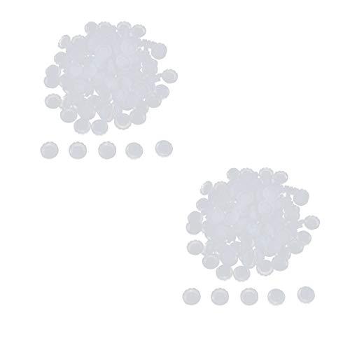 T TOOYFUL Lot de 200 Cils Anneaux Coupe en plastique jetables Colle d'Extension de Cils Coupes d'extension de Cils