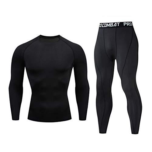 SETSAIL Herren Modischer Sets Casual Fitness schnell trocknende elastische Lange Ärmel Lange Hosen Sportanzug