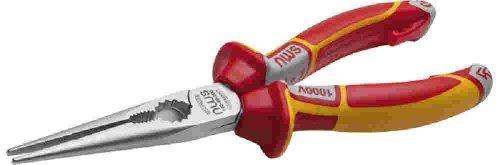 Preisvergleich Produktbild NWS 524272 160 mm 2-K-VDE Flache Nase Zange Silber