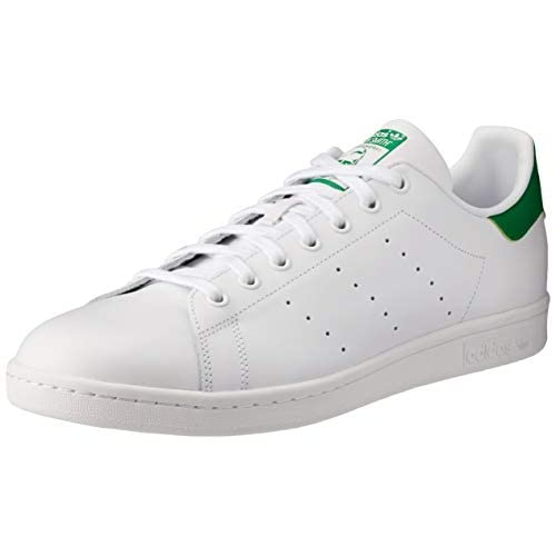 adidas Stan Smith, Scarpe da Ginnastica Uomo, Bianco (Ftwrwhite/Core White/Green Ftwrwhite/Core White/Green), 48 EU