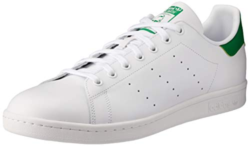 adidas Herren Stan Smith Gymnastikschuhe, Weiß (Ftwrwhite/Core White/Green Ftwrwhite/Core White/Green), 48 EU