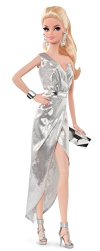 Barbie - Muñeca Look Silver Dress (Mattel CFP35
