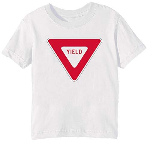 Erido Yield Bambini Unisex Ragazzi Ragazze T-Shirt Maglietta Bianco Maniche Corte Dimensioni 2XS Kids Boys Girls T-Shirt XX-Small Size 2XS