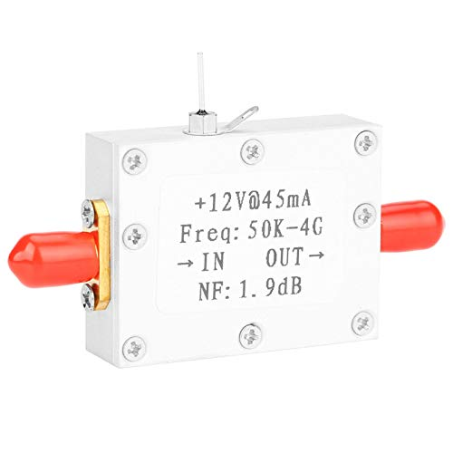 DC 9-15V LNA de bajo ruido 50K-4G amplificador de RF de amplia frecuencia Mini módulo de radioaficionado para receptor de control remoto(CNC shell)