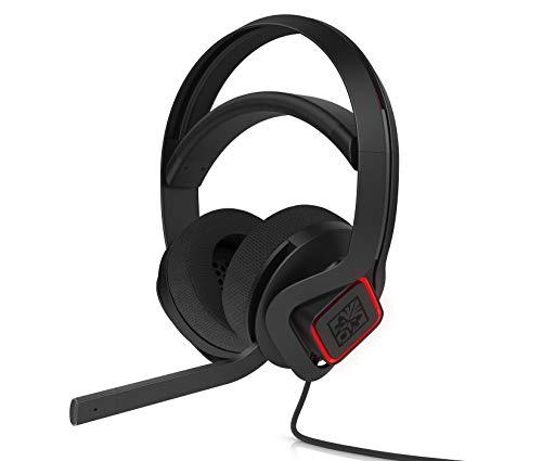 OMEN Mindframe Gaming Headset (Frostcap Kühltechnologie, virtueller 7.1 surround sound, RGB-Beleuchtung) schwarz / rot