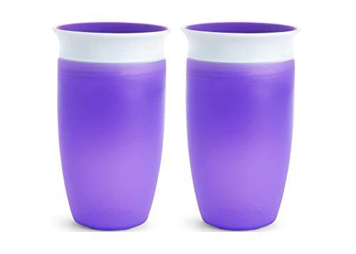 Munchkin Miracle 360 Sippy Cup, Purpura, 10 Onzas, 2 Cuentas, Púrpura