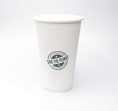 Needo Bicchieri Monouso Biodegradabili per Bibite e Birra - Ecologici, Compostabili, Plastic Free (50 pezzi 12oz/360ml)