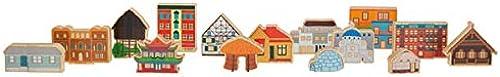KL-Toys Geb e der Welt   15 Bausteine - beidseitig bunt Bedruckt   Ma - gr es Geb e  13 x 11 x 3 cm   für Kinder ab 2 Jahre