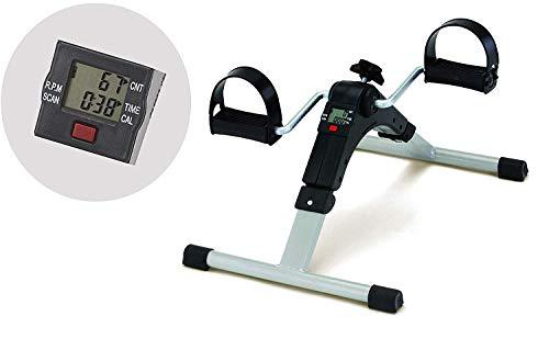 FASHION BLACK Digital Fitness Cycle - Foot Pedal Exerciser - Foldable Portable Foot, Hand, Arm, Leg...