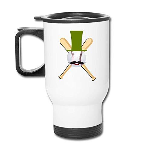 Béisbol con sombrero - Hipster - Vaso republicano para fanáticos del béisbol - Vaso con doble aislamiento - Taza de café de 30 onzas para automóvil, viajes, trabajo