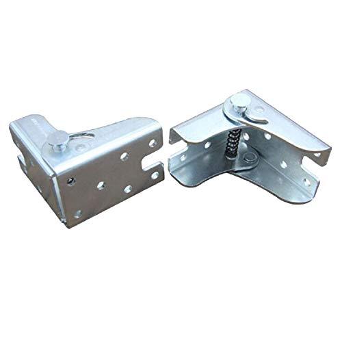 Paquete de 2 soportes plegables, bisagras de bloqueo automático y soportes de ángulo, para patas plegables, mesas de trabajo plegables, mesa plegable de cocina