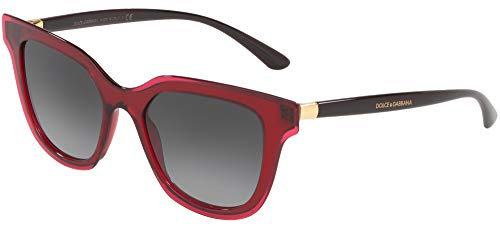 Dolce & Gabbana 0DG4362 Gafas de sol, Transparente Bordeaux, 51 para Mujer