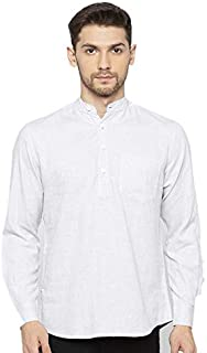 Nick&Jess Mens Short Three Button Kurta Shirt