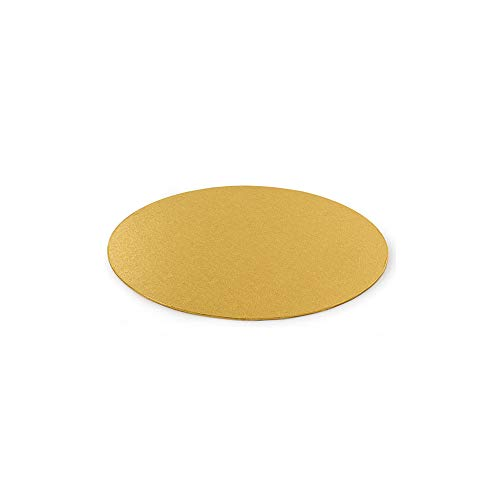 Decora 0931321 Support GÂTEAU Fin Or Ø 18 CM H 3 MM 7', Paper, doré, 18 x 18 x 0,3 cm