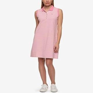 Tommy Hilfiger Striped Polo Dress Pink Stripe S