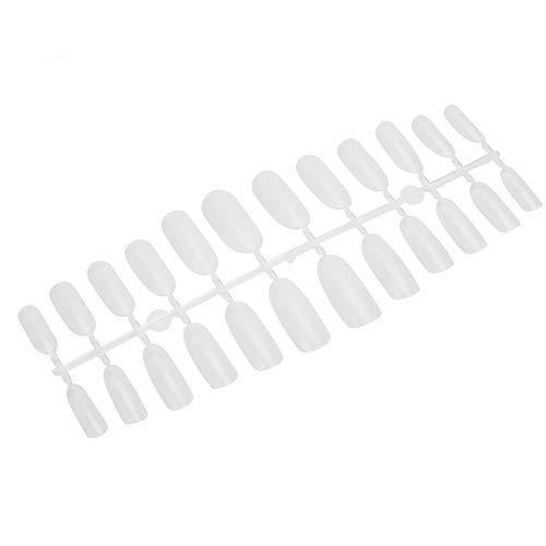 False Nail Art Tips, 240 Pcs/Box False Nail Art Tips UV Gel Tools Artificial Nails Ultra-Thin Frosted Nail Art Tips for Women and Girls(2#)