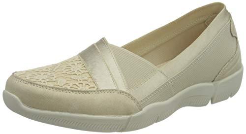 Skechers Be-Lux, Zapatillas Mujer, Beige (Nat), 39 EU