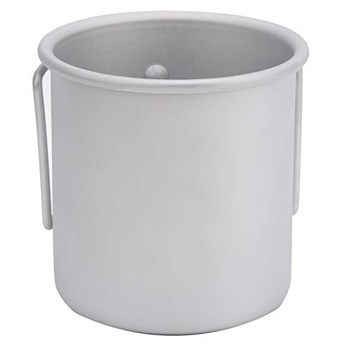 Faceuer Taza de té, Taza de Agua de aleación de Aluminio con asa Plegable para Acampar para Picnic para Exteriores