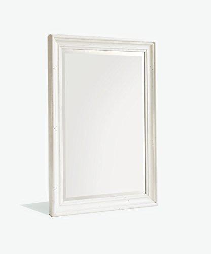 Dreams4Home Spiegel Massivholz 'Suva VI' (B/H/T) ca.106x150x9 cm Kiefer massiv, Wandspiegel, Hängespiegel, Standspiegel, Flurspiegel, weiß/honigfarben, Diele/Flur,